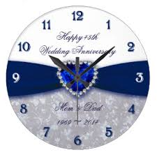 anniversary clock gifts 45th anniversary gifts on zazzle