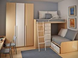 bedroom brown wooden bunk bed ladder floor full size bedroom brown wooden bunk bed ladder floor connected khaki wall