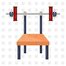 cartoon bench press machine with weights vector image 148304