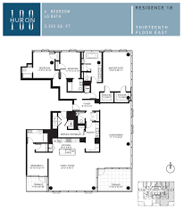 Trump Tower Chicago Floor Plans by A Look At 100 W Huron Floor Plans 100 W Huron Condos For Sale