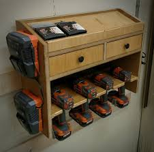 Charging Station Shelf Cordless Drill Charging Station By Tooch Lumberjocks Com