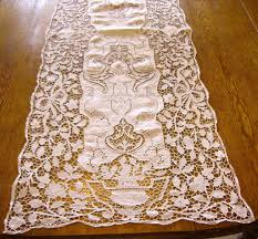 decor fine italian lace table runners in white for dining table