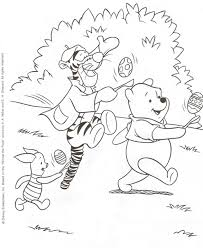 winnie the pooh easter basket easter coloring pages july 2010