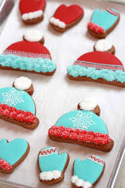 winter hat and mitten decorated cookies sweetopia