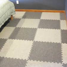 royal interlocking carpet tile bedroom flooring installation