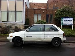 subaru hatchback 1980 old parked cars 1988 subaru justy rs