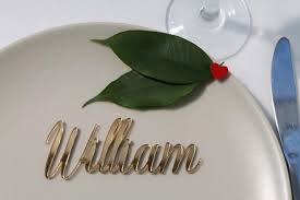 Table Setting Cards - laser cut names wedding place setting names place cards for