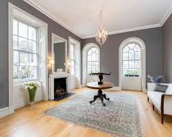 Living Room With White Furniture Gray Wall White Trim Houzz