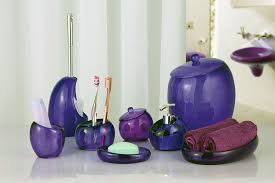 Blue Glass Bathroom Accessories Complete Your Bathroom With Sweet Purple Bath Accessories Homesfeed