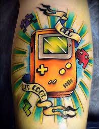 22 super cool tattoos that all old gamers will love