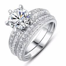 ring settings without stones online shop suohuan band ring cz diamond rings set women ring