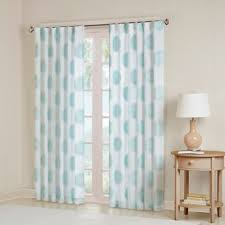 White And Teal Curtains Buy Aqua Sheer Curtains From Bed Bath Beyond