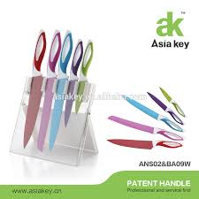 swiss 9pcs kitchen knife set colorful non stick coating knife set
