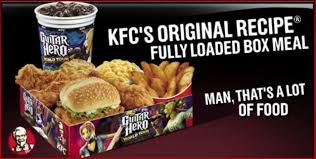 kfc box meal makes for unhealthy guitar heroes serious eats
