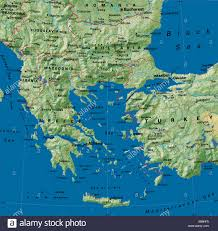 Map Greece by Map Maps Europe Greece Bulgaria Turkey Stock Photo Royalty Free