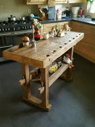 Kitchen Island Prep Table rustic workbench table kitchen island butchers block prep table