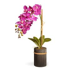 artificial potted purple orchid purple 23 national tree company
