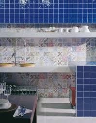 Blue Kitchen Backsplash by Top 15 Patchwork Tile Backsplash Designs For Kitchen
