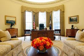 trump oval office redecoration trump official praises oval office makeover blames obama for