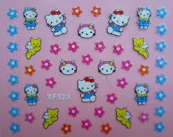 new hello kitty nail stickers 3d nail art stickers 24 designs uk