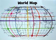 map of equator mapping activity teaching about coordinates longitude latitude