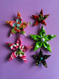 tutorial fabric star ornaments craft ideas pinterest