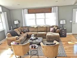what color curtains go with grey walls and brown furniture wall