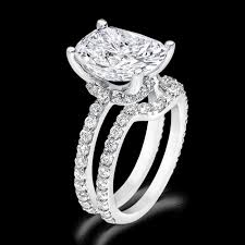 wedding ring sets cushion 5 0 carat 14k wedding ring set