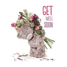 get well soon teddy 3d holographic get well soon me to you card 2 99 tattered