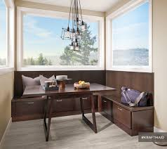 kraftmaid banquette seating contemporary dining room