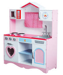 large girls kids pink wooden play kitchen children u0027s role play