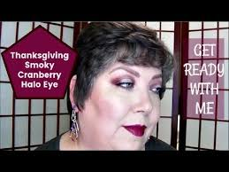 get ready with me thanksgiving smoky cranberry halo eye