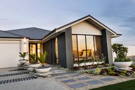 Contemporary Home Exterior by Redford U0027 Display Home Opens This Weekend Celebration Homes