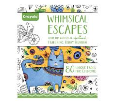 crayola whimsical escapes coloring book relaxing art