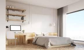 dans une chambre une chambre avec un coin bureau