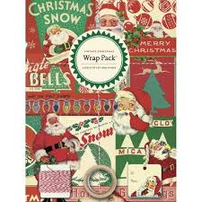 vintage christmas wrapping paper cavallini vintage christmas gift wrap pack paper source