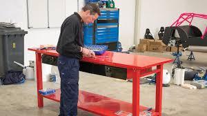 new draper heavy duty steel workbench with three drawers draper