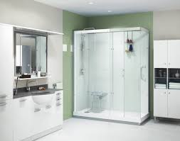 Bathroom Tubs And Showers Ideas by Bathroom Large White Tile Shower Glass Walk In Shower Doors Walk