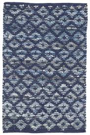 Woven Rugs Cotton Denim Rag Diamond Indigo Woven Cotton Rug Dash U0026 Albert