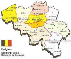 belgium city map map of kingdom of belgium planetware