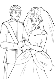 wedding coloring books barbie and ken coloring pages getcoloringpages com