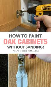 what to use to paint cabinets without sanding how to paint oak cabinets without sanding 100 room