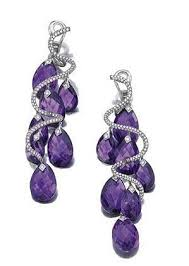 purple earrings 2596 best earrings images on jewelry high jewelry and