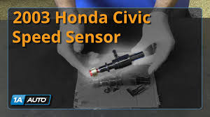 how to install replace speed sensor 2001 05 honda civic youtube