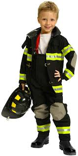 Fireman Costume Black Jr Fire Fighter Costume With Helmet Costume Craze