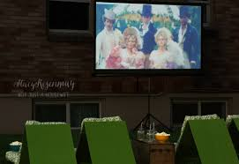 Backyard Movie Night Projector Outdoor Movie Theater Seating Stacy Risenmay