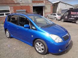 2002 toyota corolla verso 1 8 vvti t spirit 5 door hatchback blue