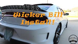 aero sport concepts wicker bill install dodge charger srt hellcat