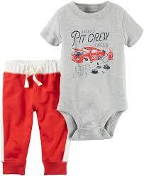 amazon com carter u0027s baby boys u0027 2 piece pitcrew bodysuit and pants