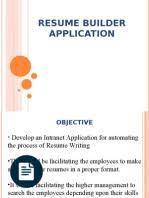 documentation of online resume builder java servlet java